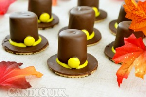 Chocolate Pilgrim Hats | @candiquik