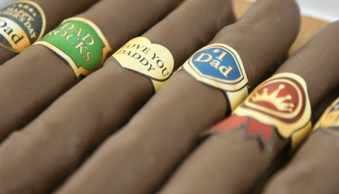chocolate pretzel cigars from Miss CandiQuik