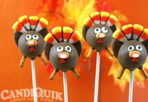 Turkey Cake Pops by Miss CandiQuik