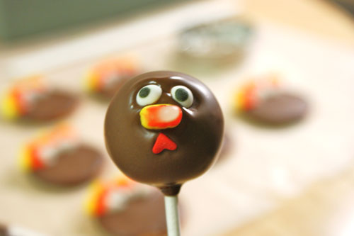 Turkey Cake Pops (in process) | by @candiquik