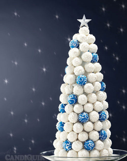 Cake Bite Christmas Tree - made entirely of cake bites! @candiquik