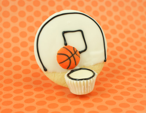Basketball Cookies by Miss Candiquik