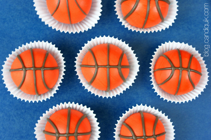 Basketball Cake Balls - perfect for March Madness or any basketball event! @candiquik