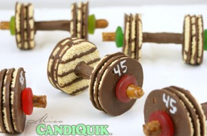 Chocolate Barbell Cookies