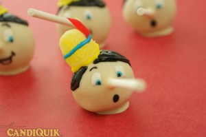 Pinocchio Cake Pops by Miss CandiQuik