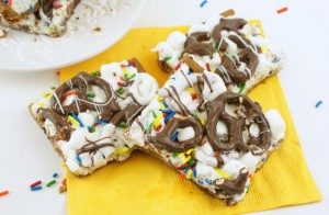 Cookie Confetti Bars by Miss CandiQuik