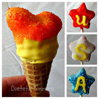 Olympic Flame Cake Pops