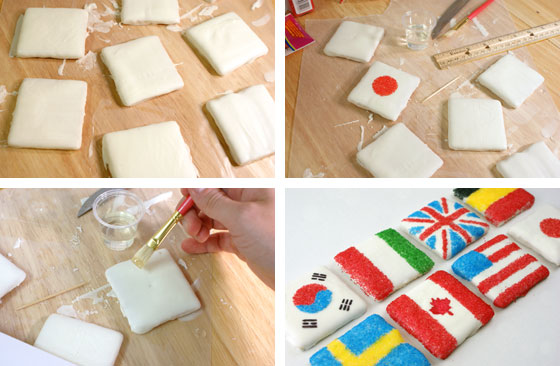 Olympic Graham Cracker Cookie Flags