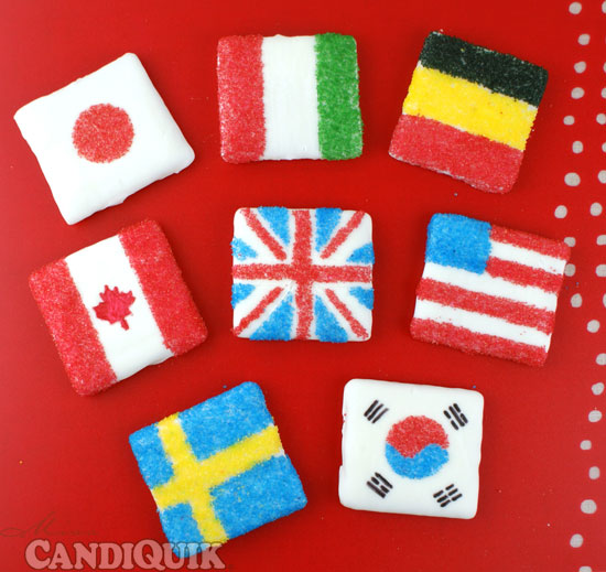 Olympic (Graham Cracker Cookie) Flags