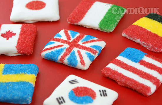 Olympic Graham Cracker Cookie Flag