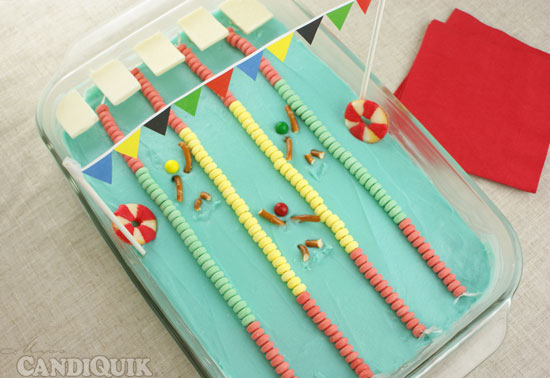 Olympic Swimming Pool Cake