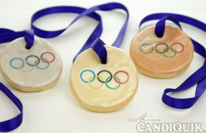 Olympic Medal Cookies from Miss CandiQuik