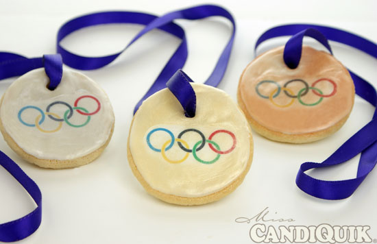 Olympic Gold Medal Cookies