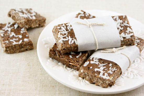 Chocolate Coconut Almond Granola Bars