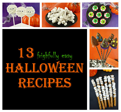 13 {Easy} Halloween Recipes - http://blog.candiquik.com