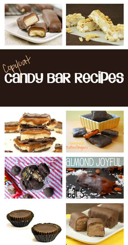 Copycat Candy Bar Recipes! @candiquik