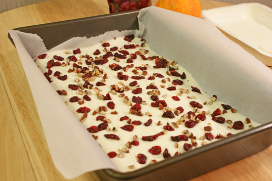 Cranberry Orange Pecan Bark