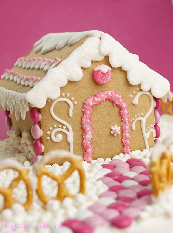 Gingerbread House (made with candy coating vs frosting - soo much easier!) | @candiquik