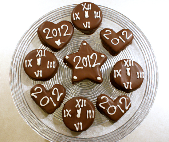 New Year's Clock Cookies