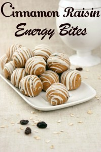 Cinnamon Raisin Energy Bites - @candiquik
