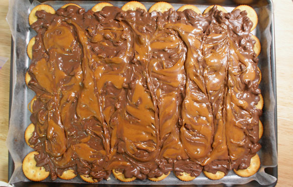 Chocolate Caramel Swirl Cracker Candy