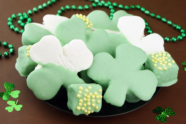 Homemade Shamrock Marshmallows
