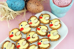Pretzel Twist Easter Chicks | Miss CandiQuik