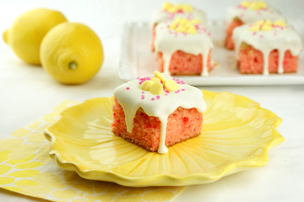Strawberry Lemon Truffle Cake