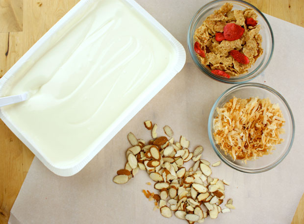 Coconut Almond Crunch Bark - ingredients - @candiquik