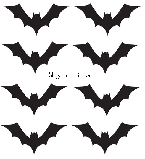 Outline for Bat Cupcake Toppers by @candiquik