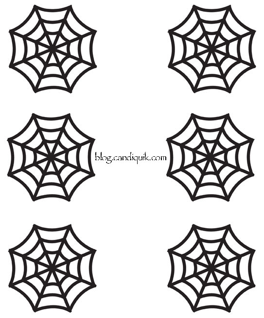 Outline for Spider Web Cupcake Toppers by @candiquik