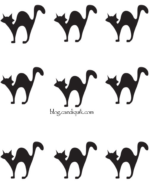 Outline for Cat Cupcake Toppers by @candiquik