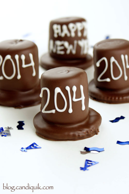 New Years Chocolate Party Hats