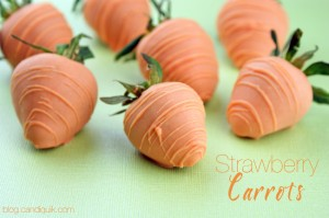 Chocolate Covered Strawberry Carrots | @candiquik