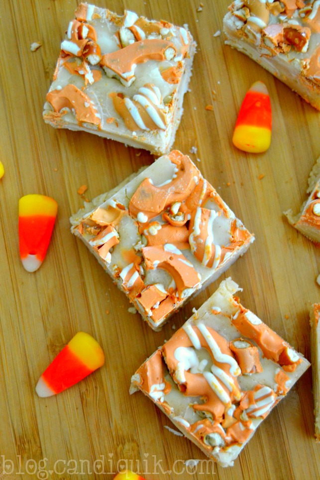 Pumpkin Spice Pretzel Fudge