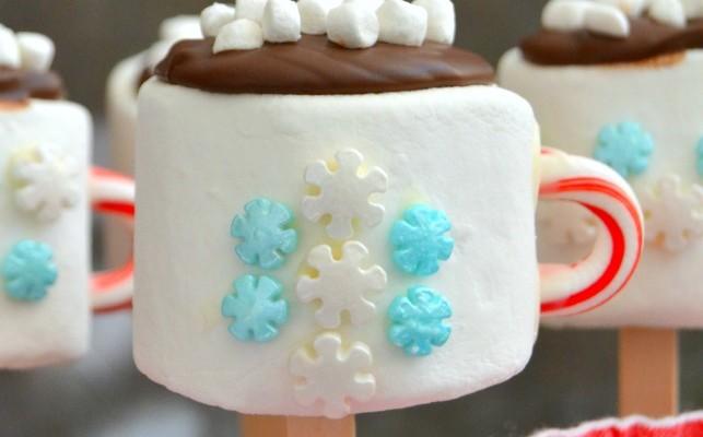 Marshmallow Hot Cocoa Pops