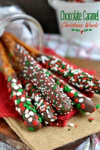 Chocolate Caramel Christmas Wands