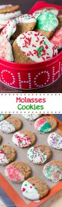 White Chocolate-Dipped Molasses Cookies