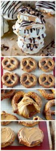 Chocolate Dipped Peanut Butter Stuffed Pretzels